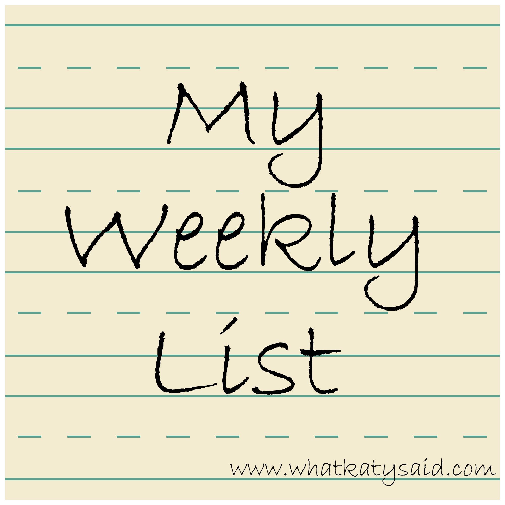 weekly list