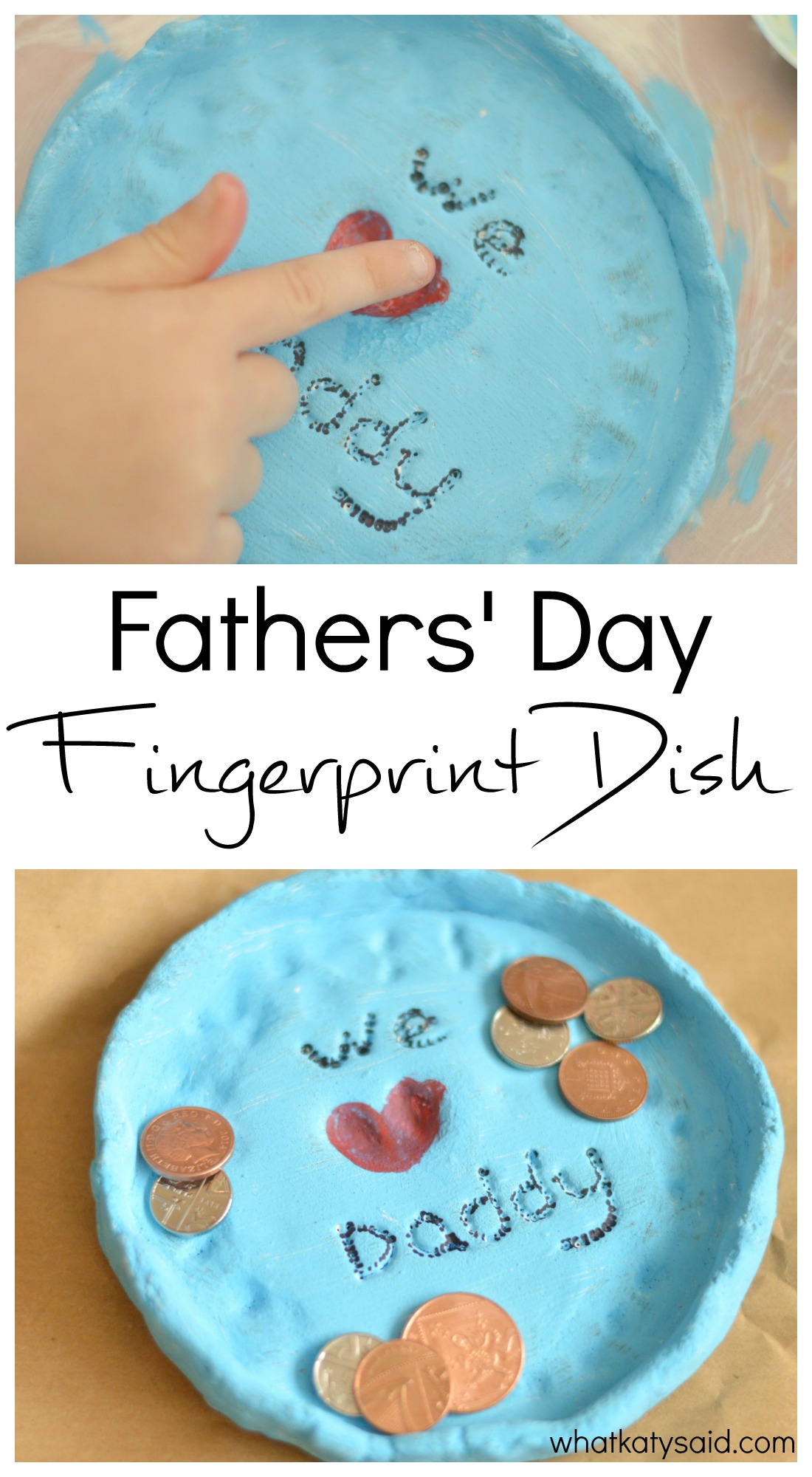 Fathers' Day Gift Idea Fingerprint dish from the kids