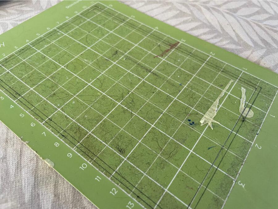 Dirty Cricut mat