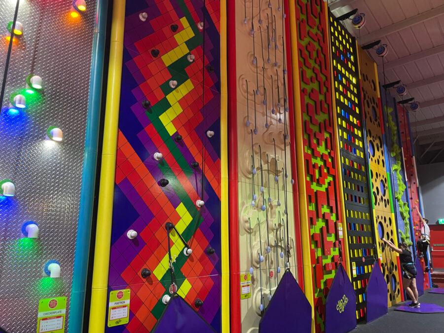 Enflate clip n climb wall